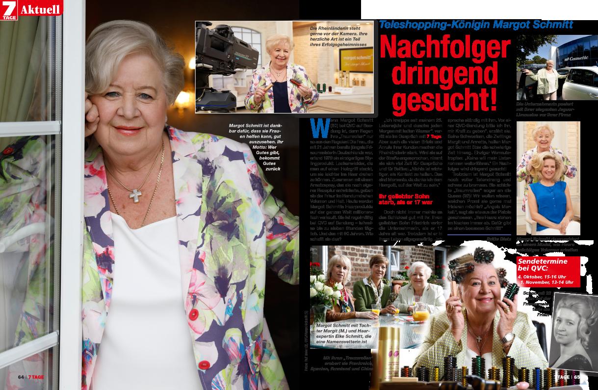 """Presseveröffentlichung in Frauenmagazin """"7 Tage"""" von Margot Schmitt - PRTB"""